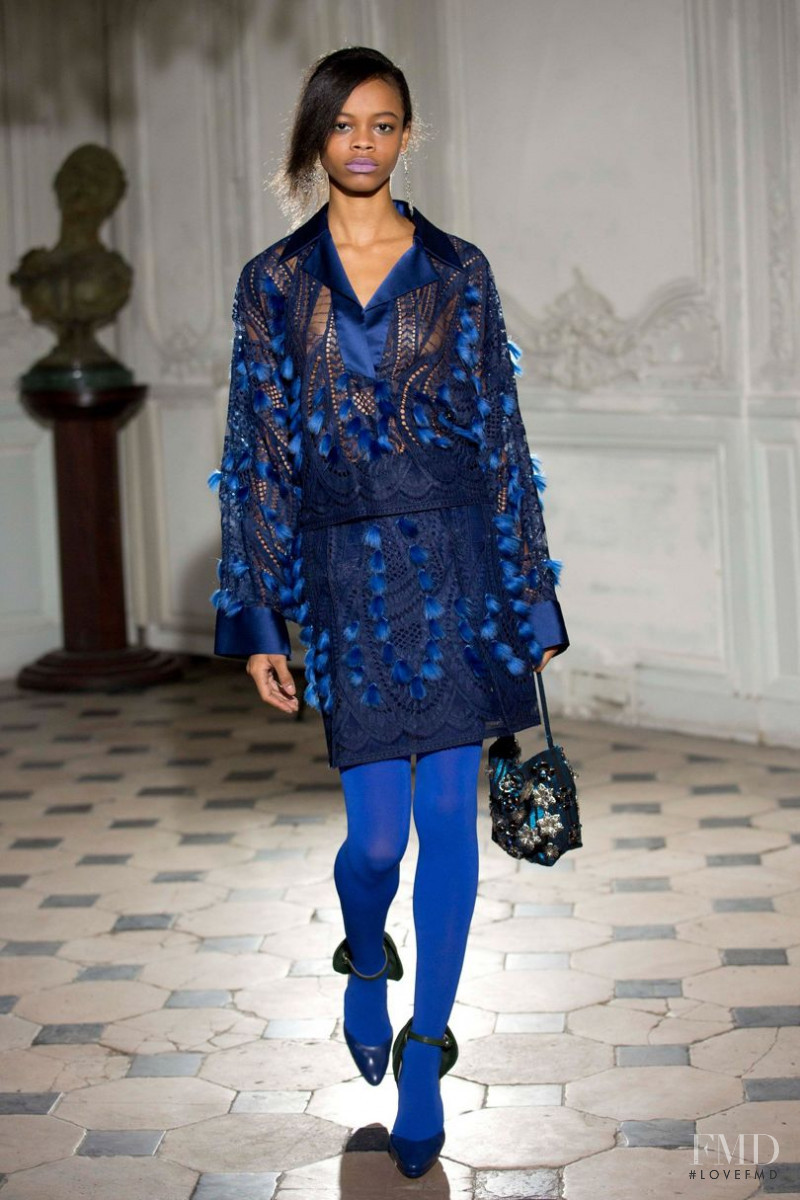 Aaliyah Hydes featured in  the Bernard Chandran fashion show for Autumn/Winter 2017