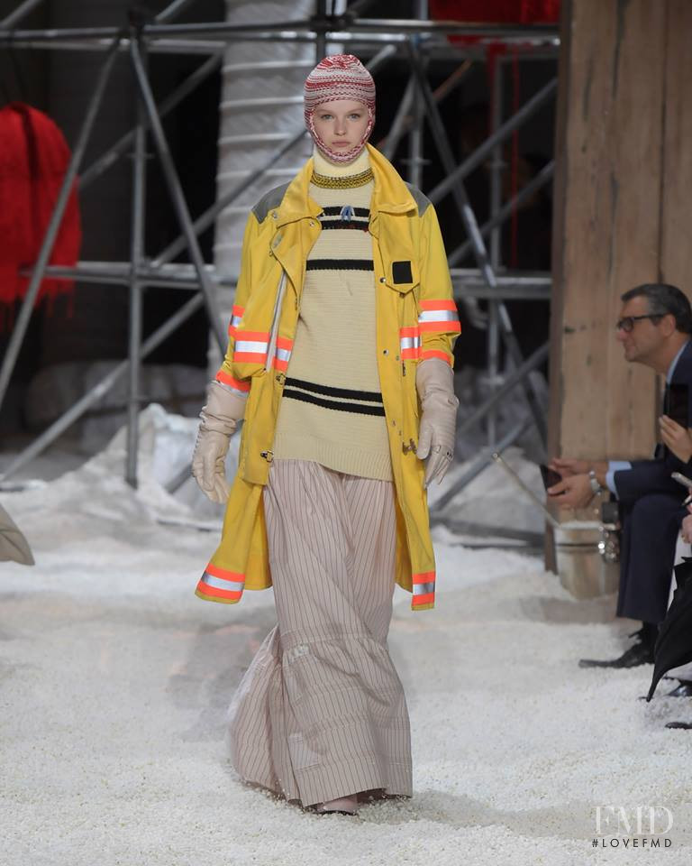 Hannah Motler featured in  the Calvin Klein 205W39NYC fashion show for Autumn/Winter 2018