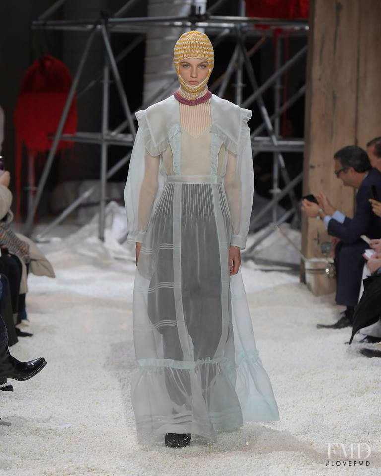 Fran Summers featured in  the Calvin Klein 205W39NYC fashion show for Autumn/Winter 2018