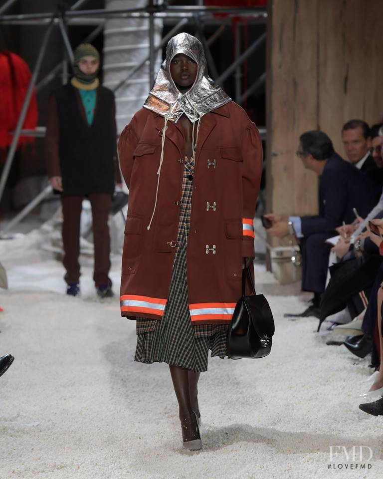 Adut Akech Bior featured in  the Calvin Klein 205W39NYC fashion show for Autumn/Winter 2018