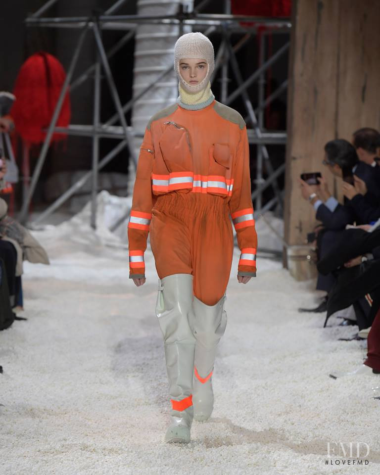 Lulu Tenney featured in  the Calvin Klein 205W39NYC fashion show for Autumn/Winter 2018