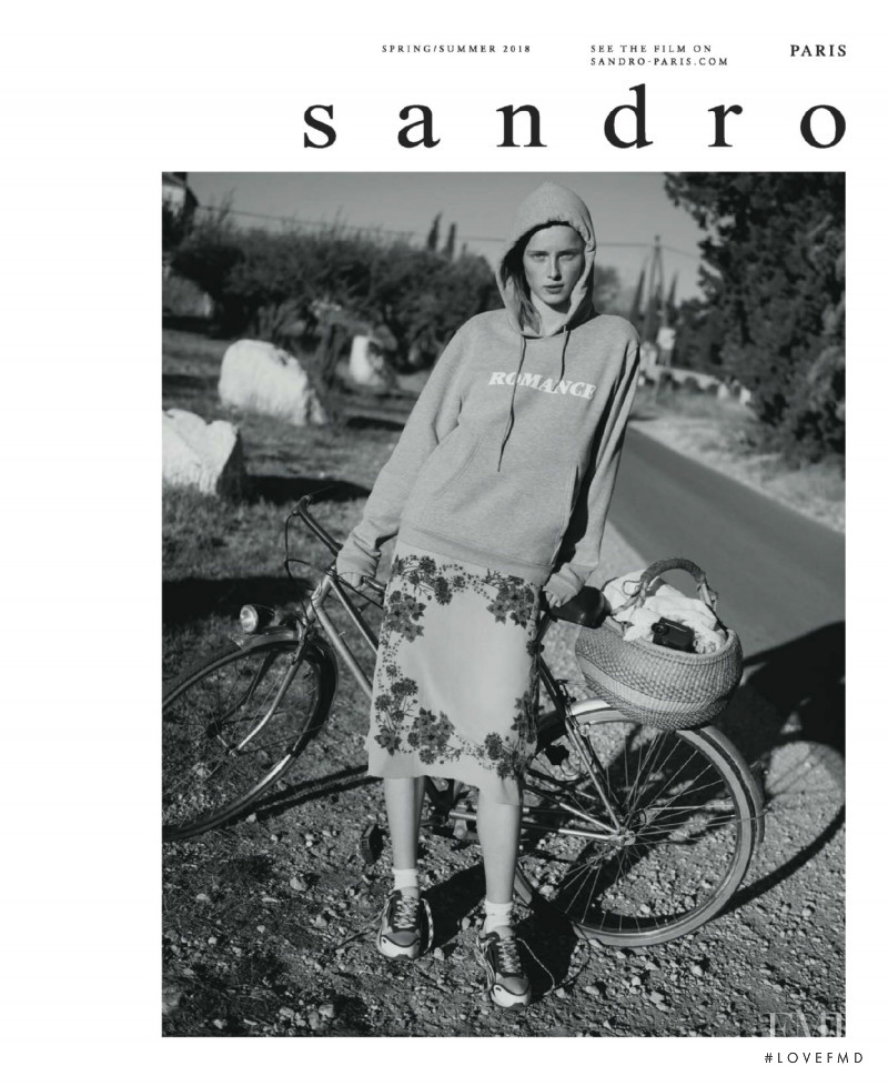 Rianne Van Rompaey featured in  the Sandro advertisement for Spring/Summer 2018