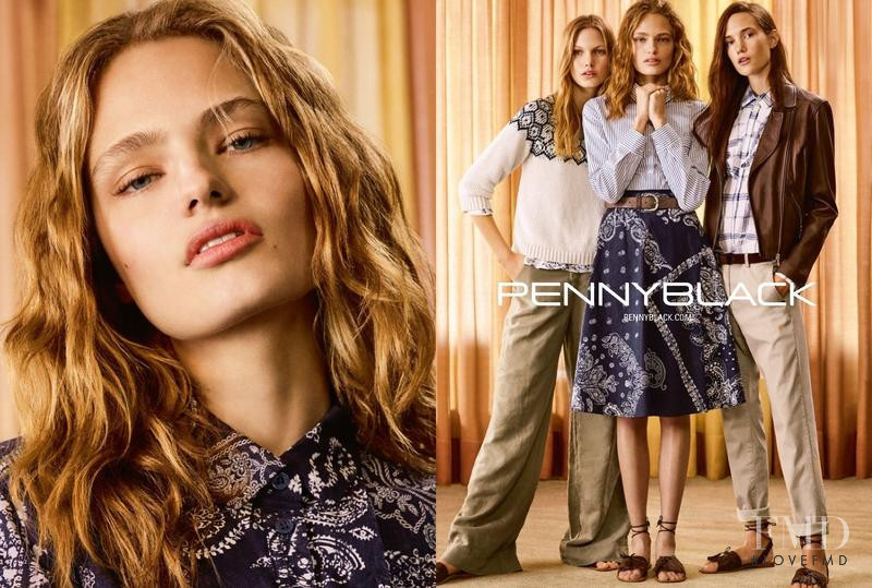 Anna Mila Guyenz featured in  the Pennyblack advertisement for Spring/Summer 2017