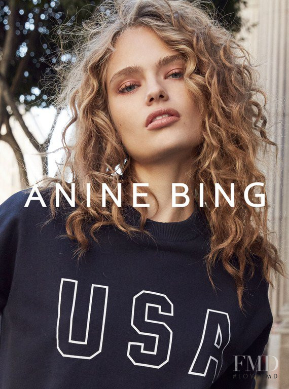 Anna Mila Guyenz featured in  the Anine Bing advertisement for Spring/Summer 2017