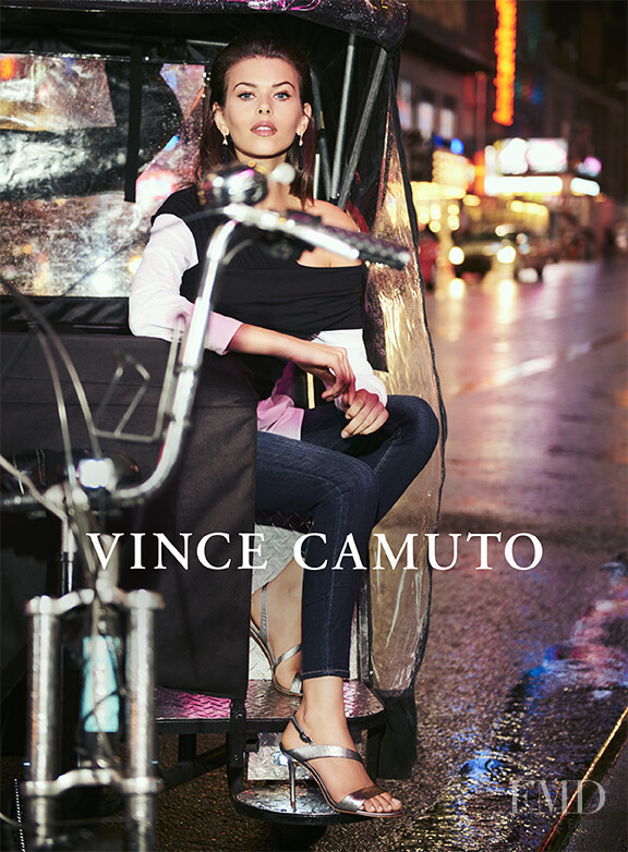 Georgia Fowler featured in  the Vince Camuto advertisement for Christmas 2017
