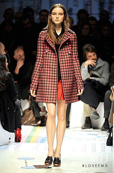 Anna de Rijk featured in  the Prada fashion show for Autumn/Winter 2010