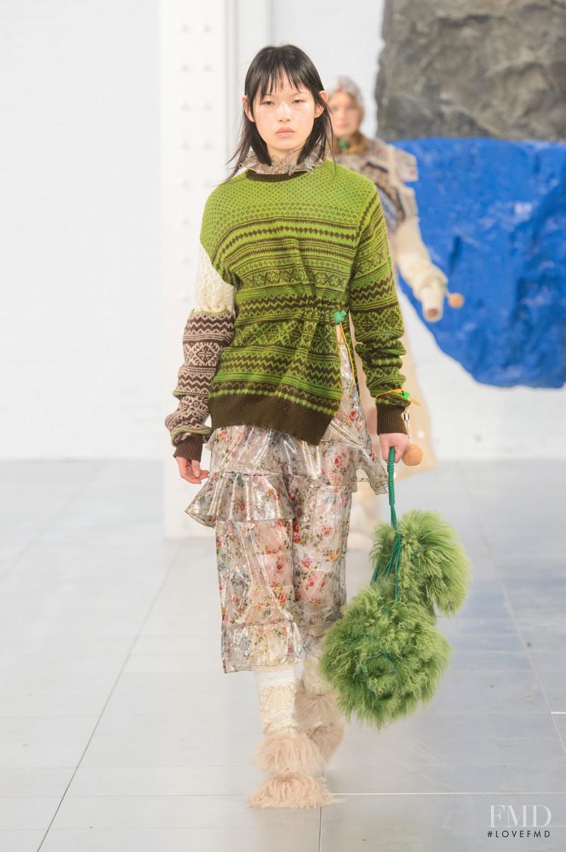 Xie Chaoyu featured in  the Preen by Thornton Bregazzi fashion show for Autumn/Winter 2018