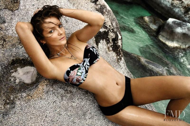 Eniko Mihalik featured in  the Zimmermann Swimwear advertisement for Resort 2014