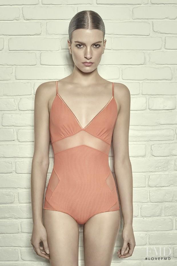 Rebecca Gobbi featured in  the Giuliana Romanno advertisement for Spring/Summer 2015