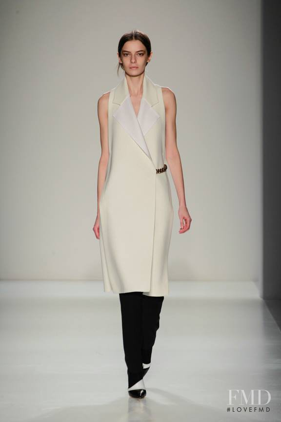 Dasha Denisenko featured in  the Victoria Beckham fashion show for Autumn/Winter 2014