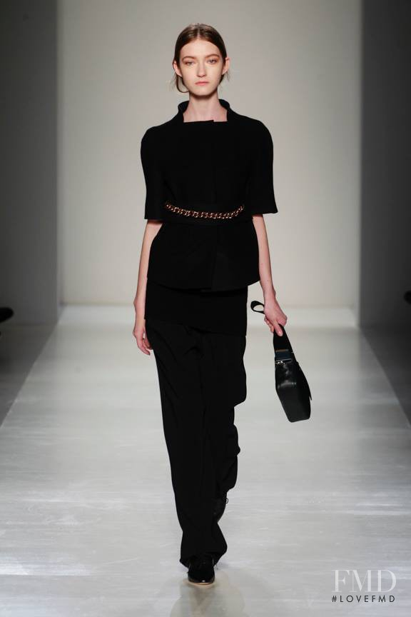 Kasia Jujeczka featured in  the Victoria Beckham fashion show for Autumn/Winter 2014