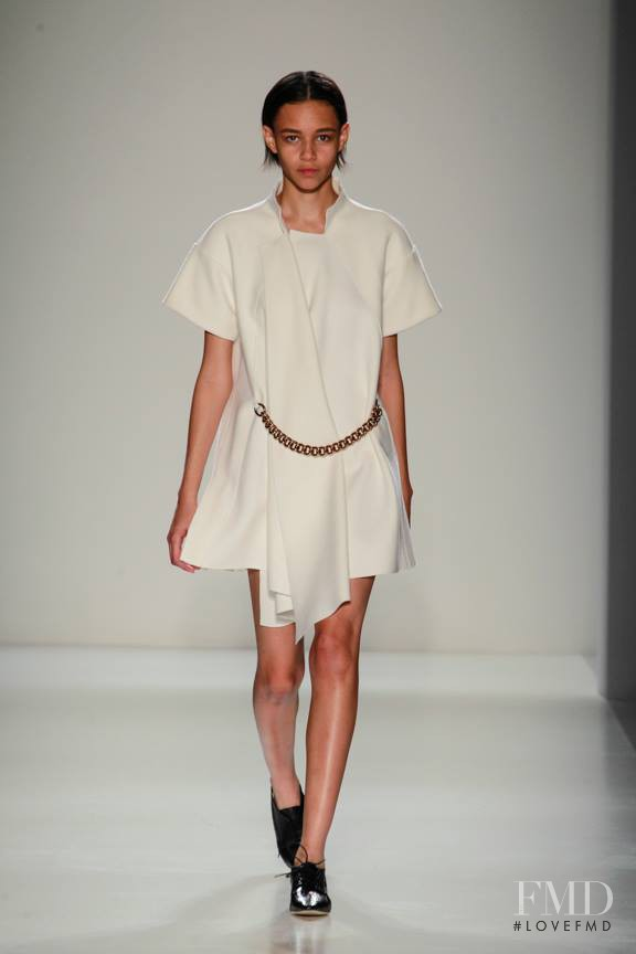 Binx Walton featured in  the Victoria Beckham fashion show for Autumn/Winter 2014