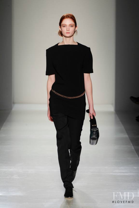 Sophie Touchet featured in  the Victoria Beckham fashion show for Autumn/Winter 2014