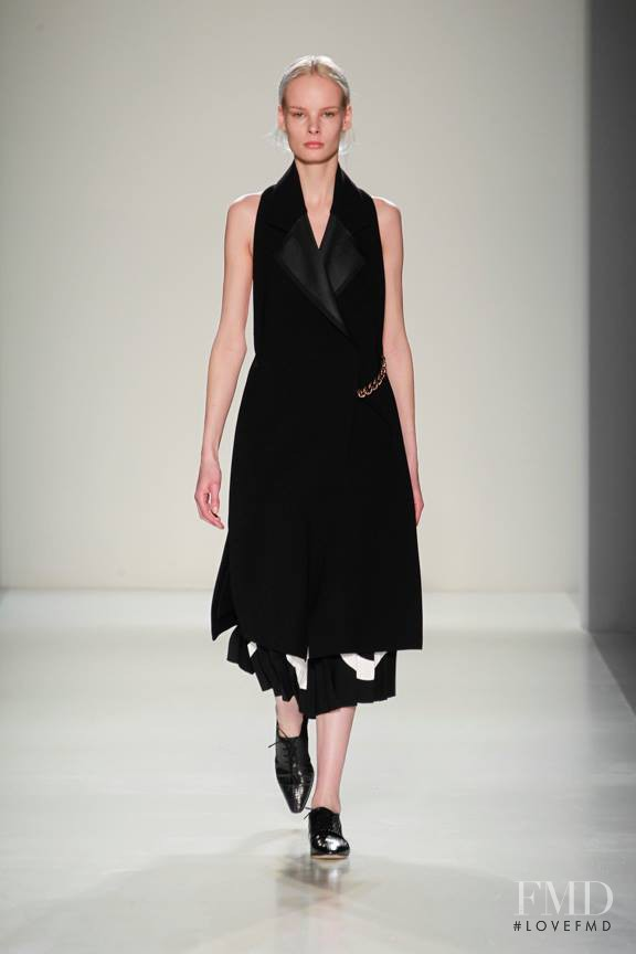 Irene Hiemstra featured in  the Victoria Beckham fashion show for Autumn/Winter 2014