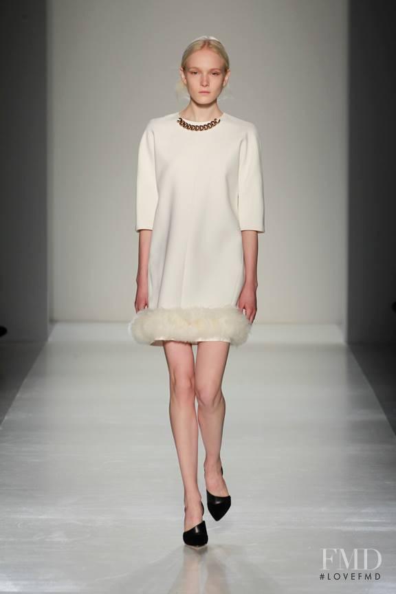 Maja Salamon featured in  the Victoria Beckham fashion show for Autumn/Winter 2014