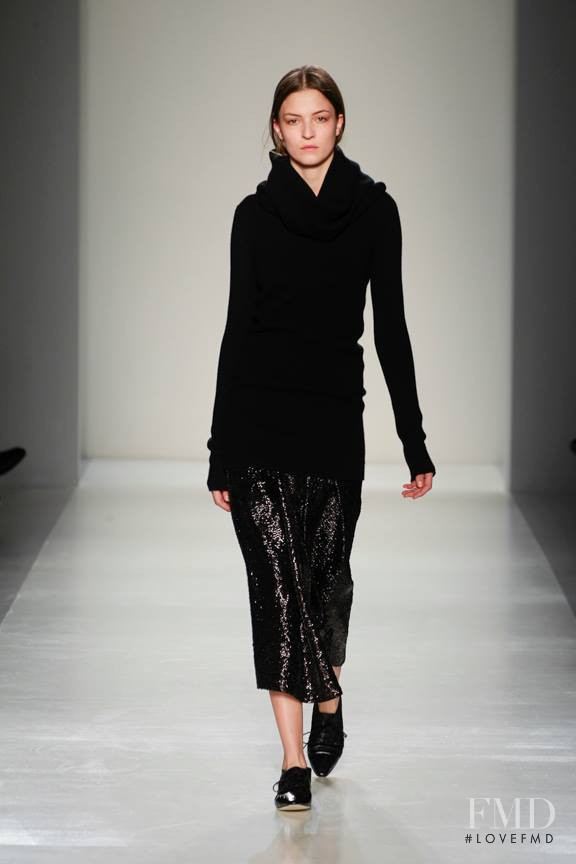 Emeline Ghesquiere featured in  the Victoria Beckham fashion show for Autumn/Winter 2014