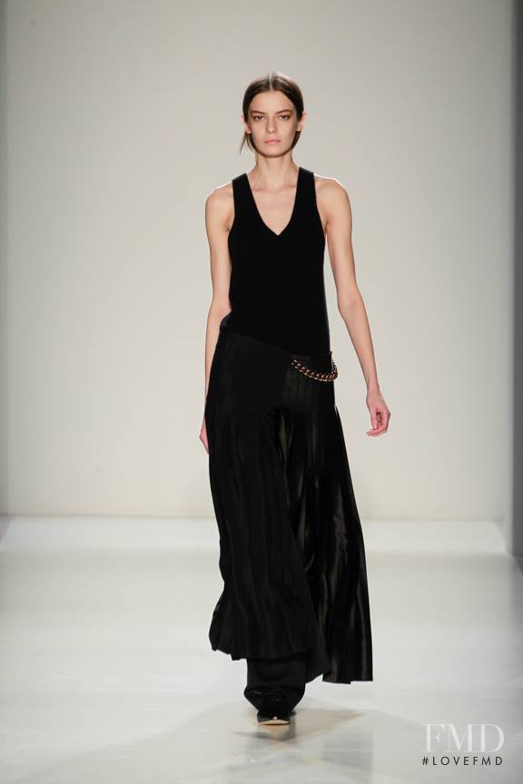 Dasha Denisenko featured in  the Victoria Beckham fashion show for Autumn/Winter 2014