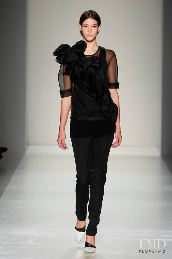Carla Ciffoni featured in  the Victoria Beckham fashion show for Autumn/Winter 2014