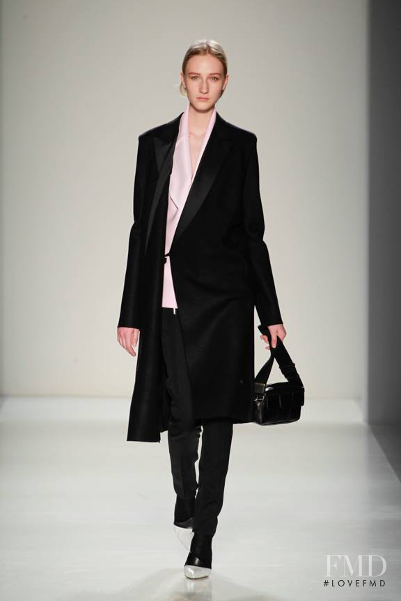 Charlotte Lindvig featured in  the Victoria Beckham fashion show for Autumn/Winter 2014