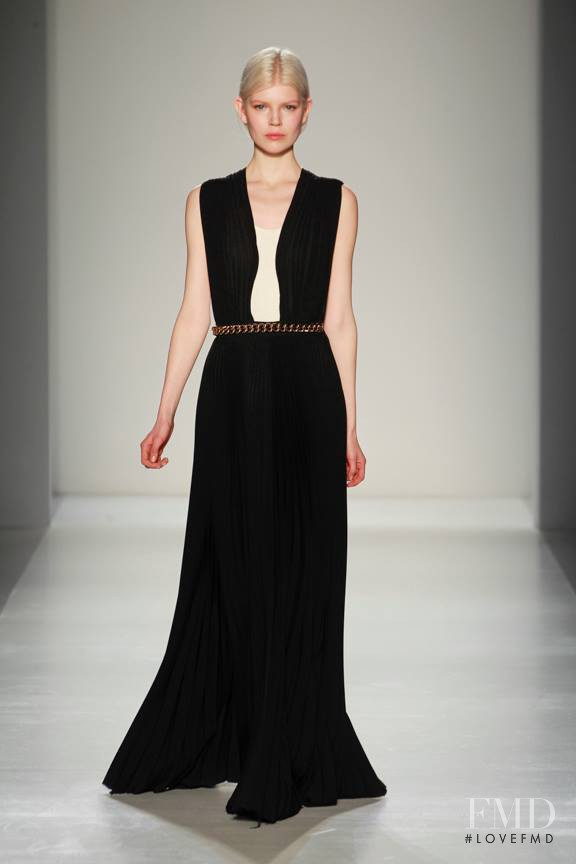 Ola Rudnicka featured in  the Victoria Beckham fashion show for Autumn/Winter 2014