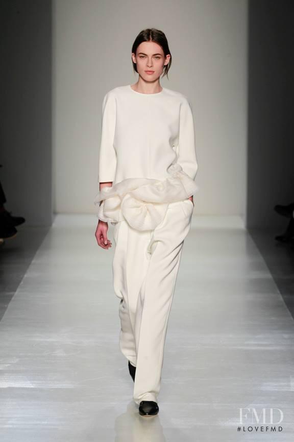 Kassandra Jensen featured in  the Victoria Beckham fashion show for Autumn/Winter 2014