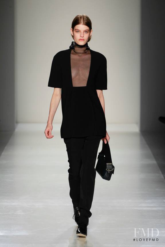 Kia Low featured in  the Victoria Beckham fashion show for Autumn/Winter 2014