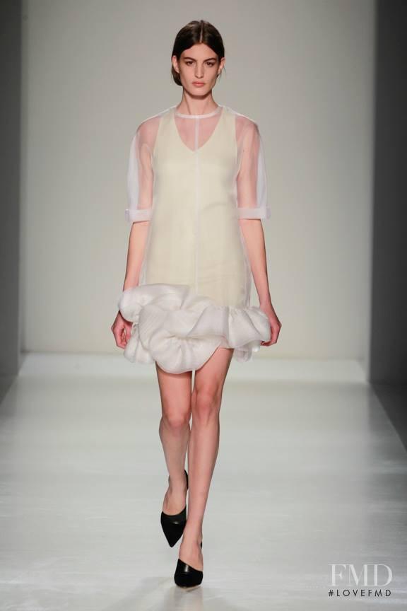 Elodia Prieto featured in  the Victoria Beckham fashion show for Autumn/Winter 2014