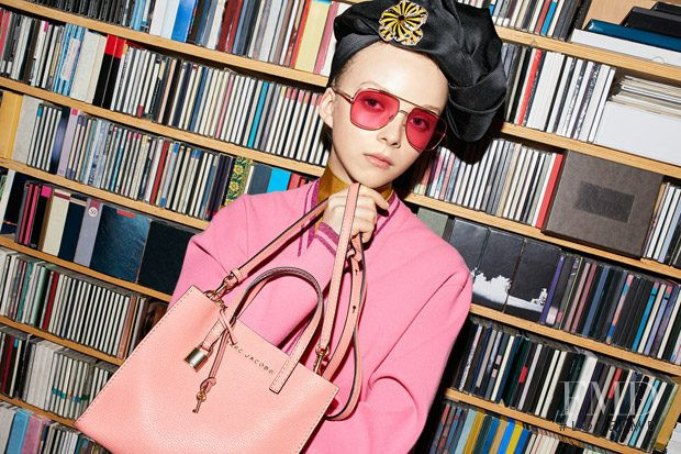 Lily Nova featured in  the Marc Jacobs Eyewear advertisement for Spring/Summer 2018