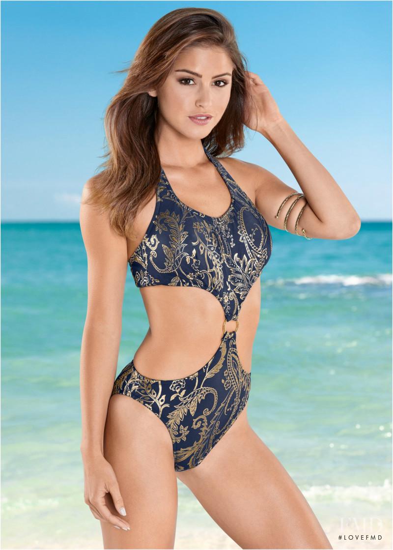 64dec6b8b8 Jehane-Marie Gigi Paris featured in the Venus Swimwear catalogue for  Spring/Summer 2018