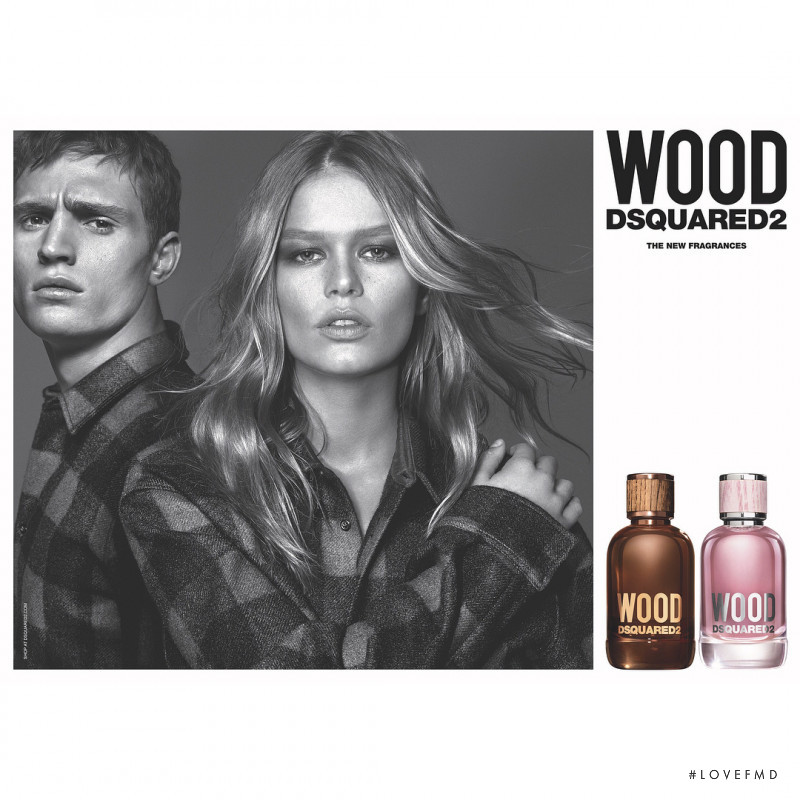 Anna Ewers featured in  the DSquared2 Wood Fragrance advertisement for Autumn/Winter 2018