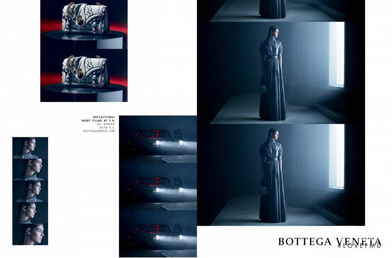 Vittoria Ceretti featured in  the Bottega Veneta advertisement for Autumn/Winter 2018