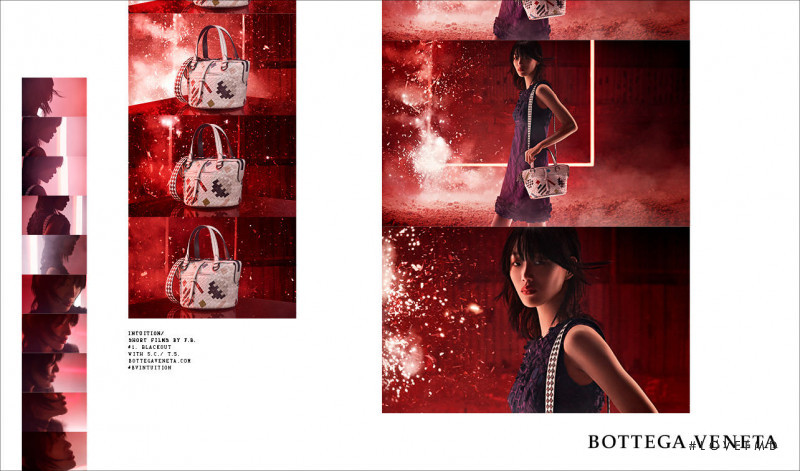 So Ra Choi featured in  the Bottega Veneta advertisement for Autumn/Winter 2018