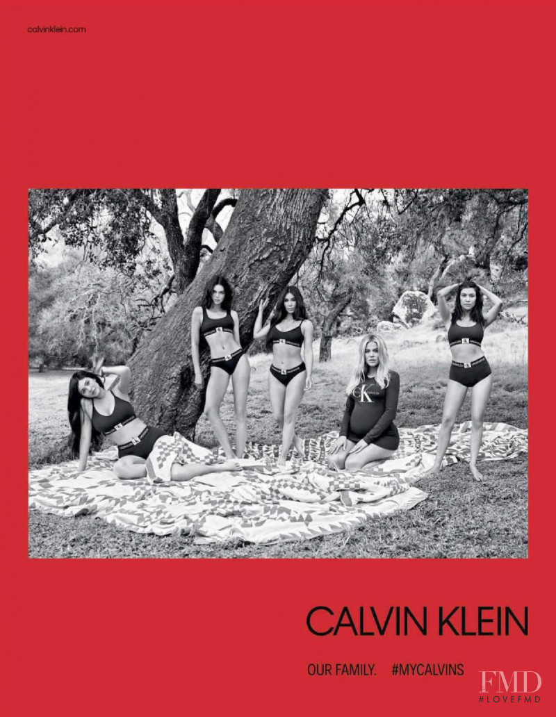 Kendall Jenner featured in  the Calvin Klein Underwear advertisement for Autumn/Winter 2018