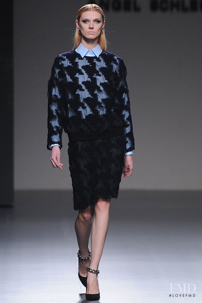 Olga Sherer featured in  the Angel Schlesser fashion show for Autumn/Winter 2013