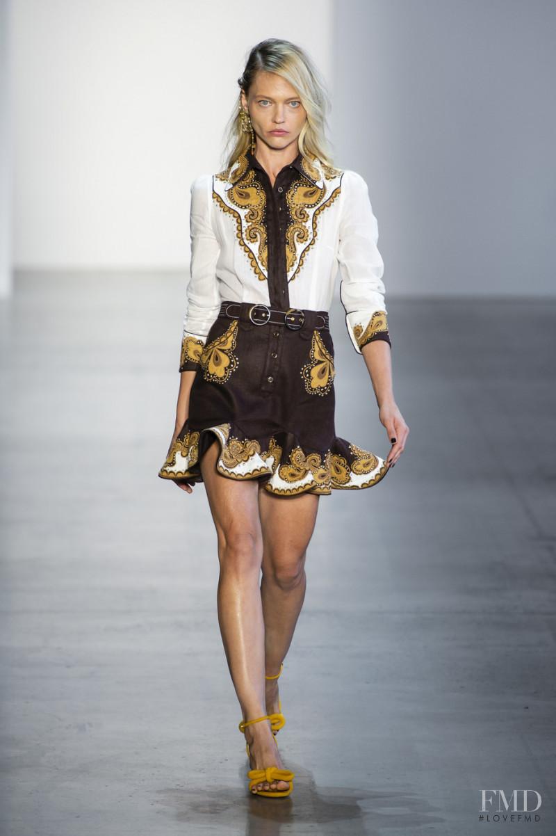 Sasha Pivovarova featured in  the Zimmermann fashion show for Spring/Summer 2019