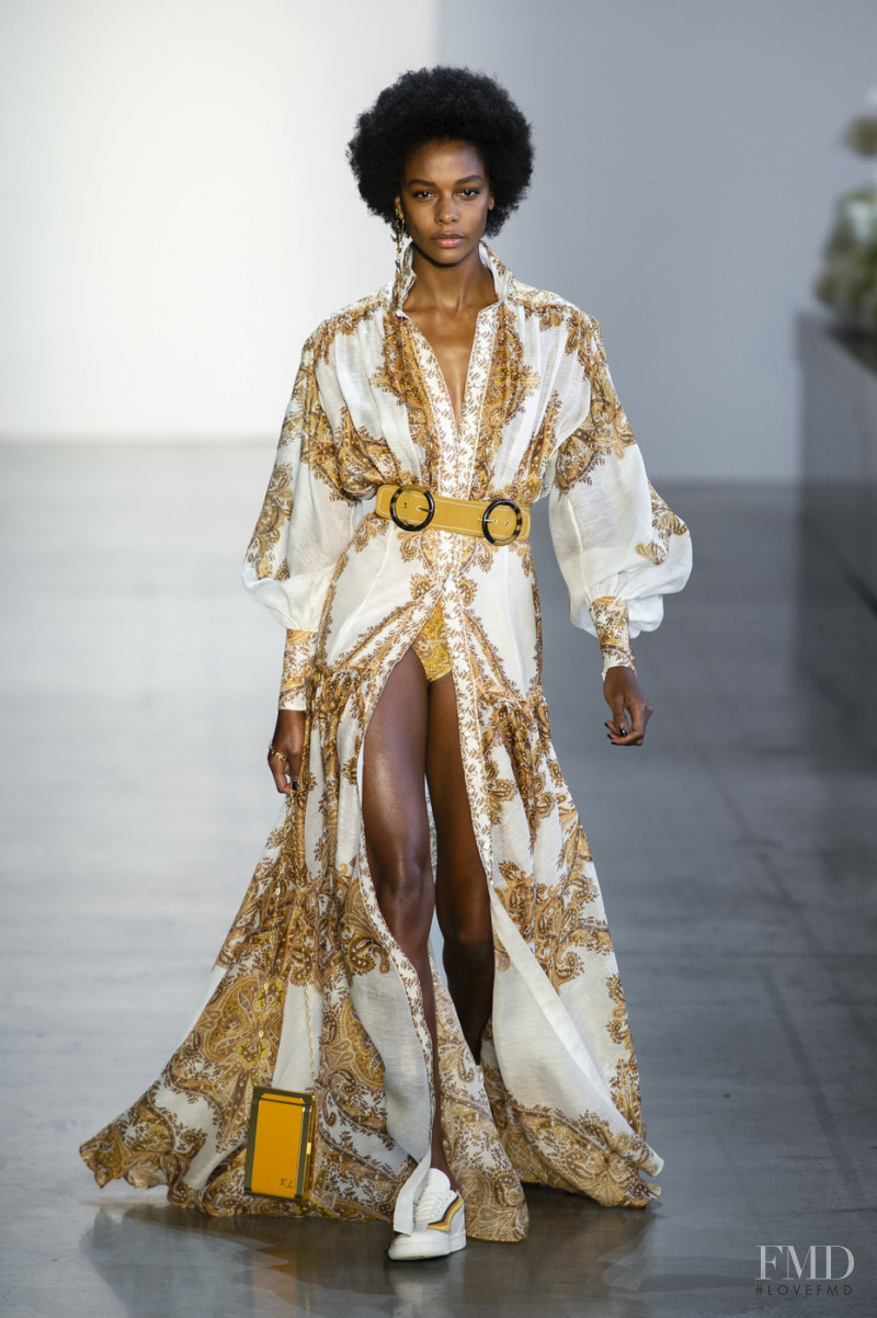 Karly Loyce featured in  the Zimmermann fashion show for Spring/Summer 2019