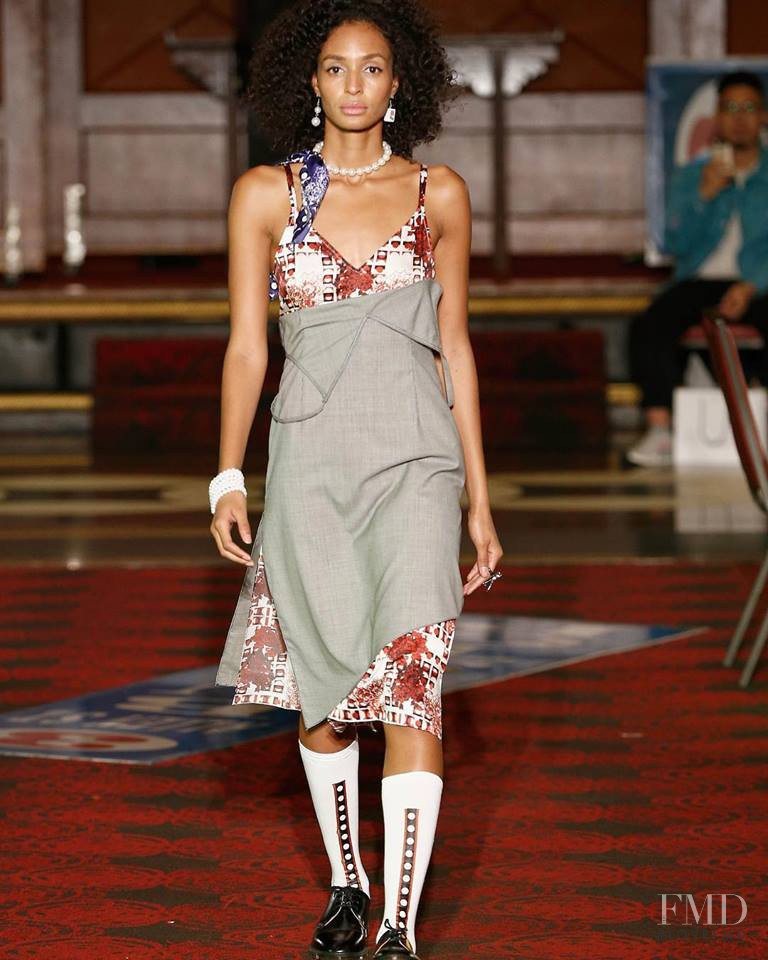 Taylor Hammonds featured in  the Snow Xue Gao fashion show for Spring/Summer 2019