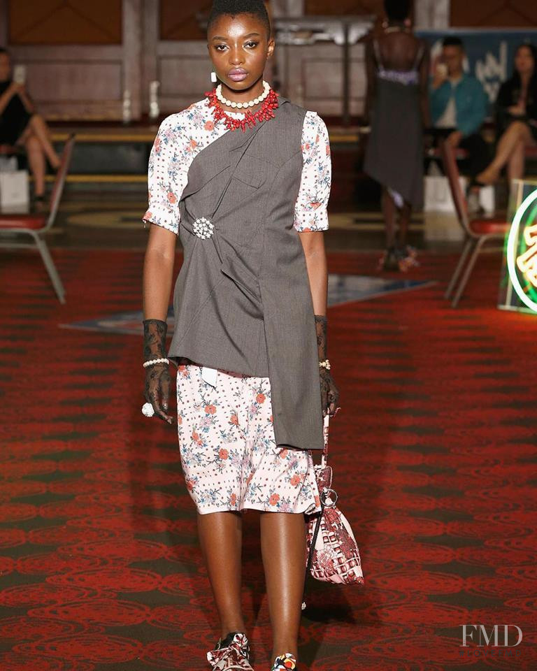 Michelle Enoch featured in  the Snow Xue Gao fashion show for Spring/Summer 2019