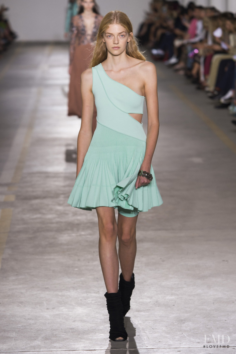 Eliza Kallmann featured in  the Roberto Cavalli fashion show for Spring/Summer 2019