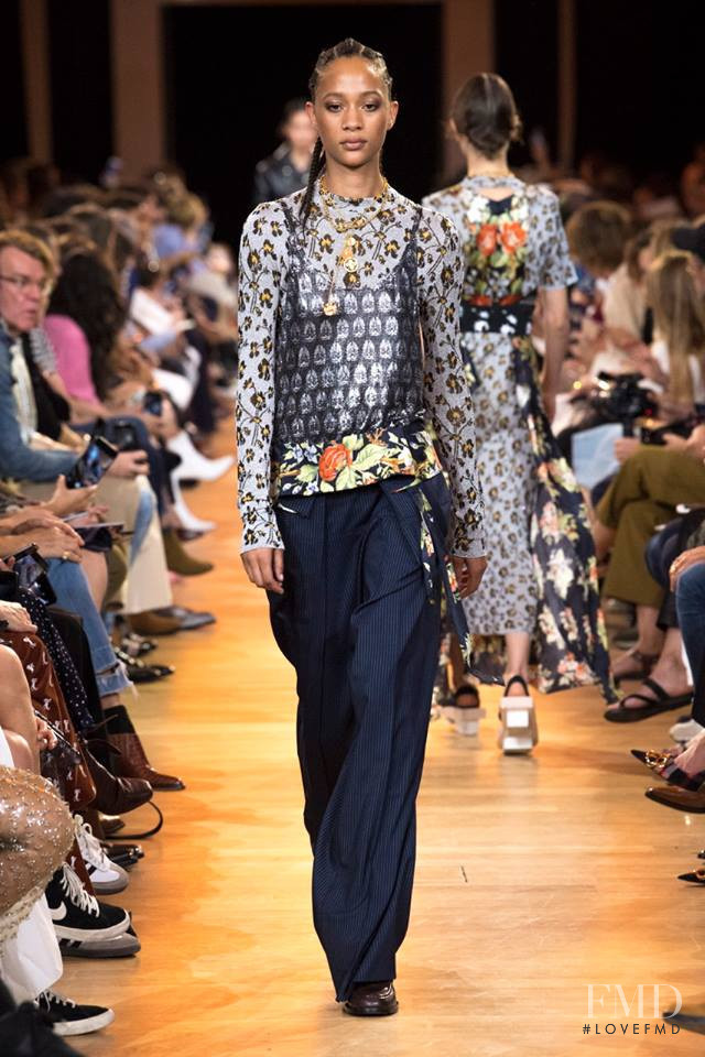 Selena Forrest featured in  the Paco Rabanne fashion show for Spring/Summer 2019