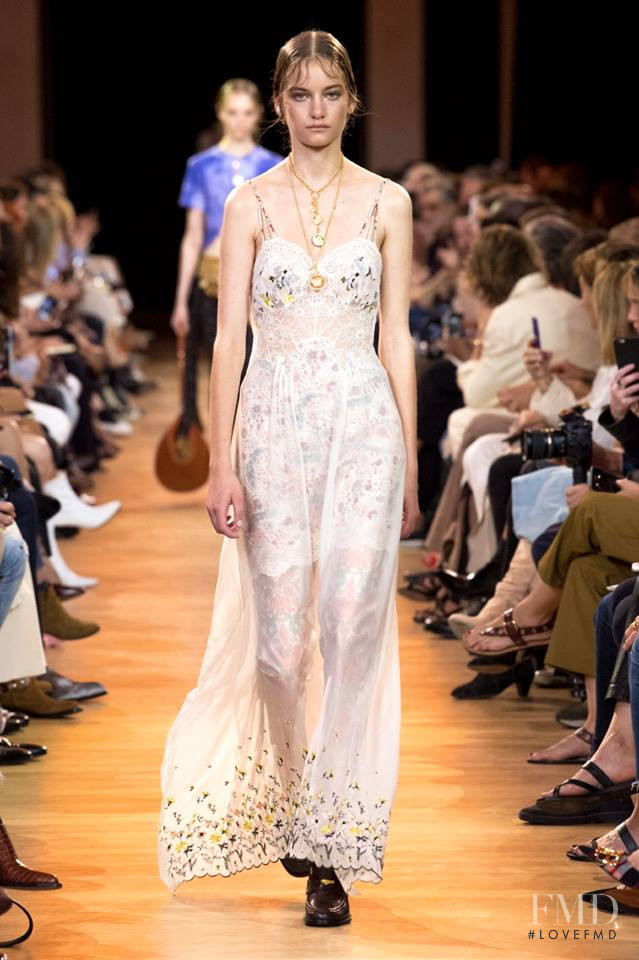 Alina Bolotina featured in  the Paco Rabanne fashion show for Spring/Summer 2019
