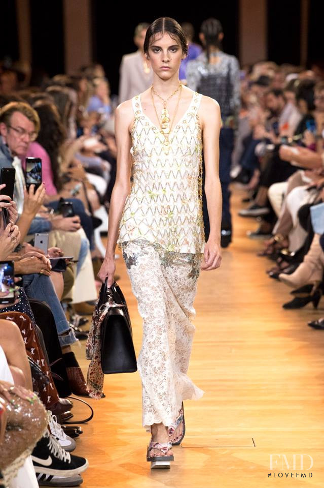 Cyrielle Lalande featured in  the Paco Rabanne fashion show for Spring/Summer 2019