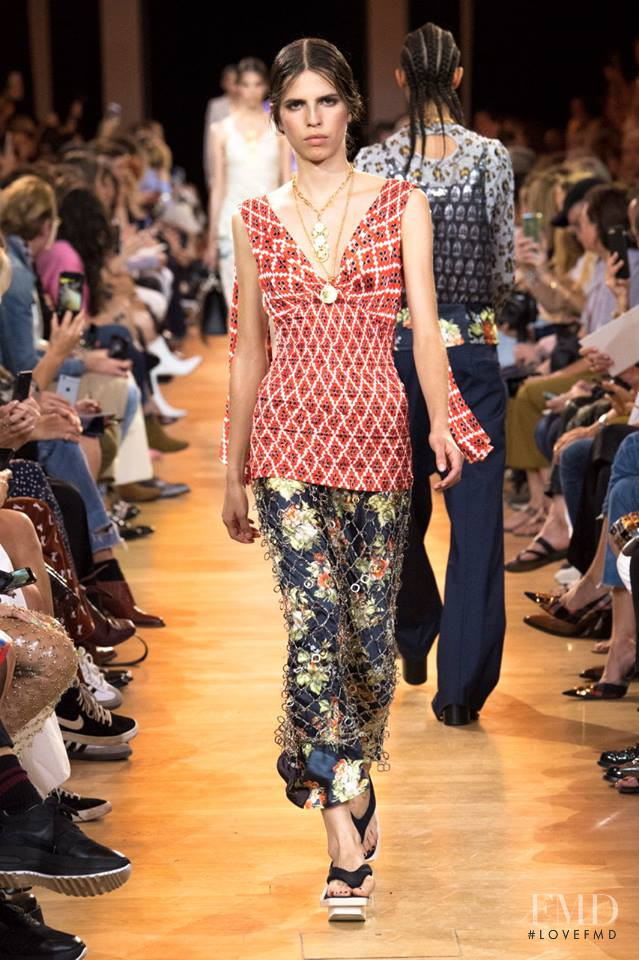 Hayett McCarthy featured in  the Paco Rabanne fashion show for Spring/Summer 2019