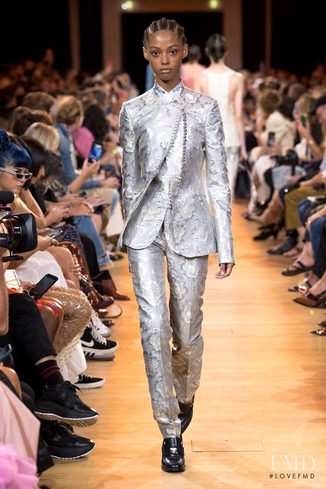 Londone Myers featured in  the Paco Rabanne fashion show for Spring/Summer 2019