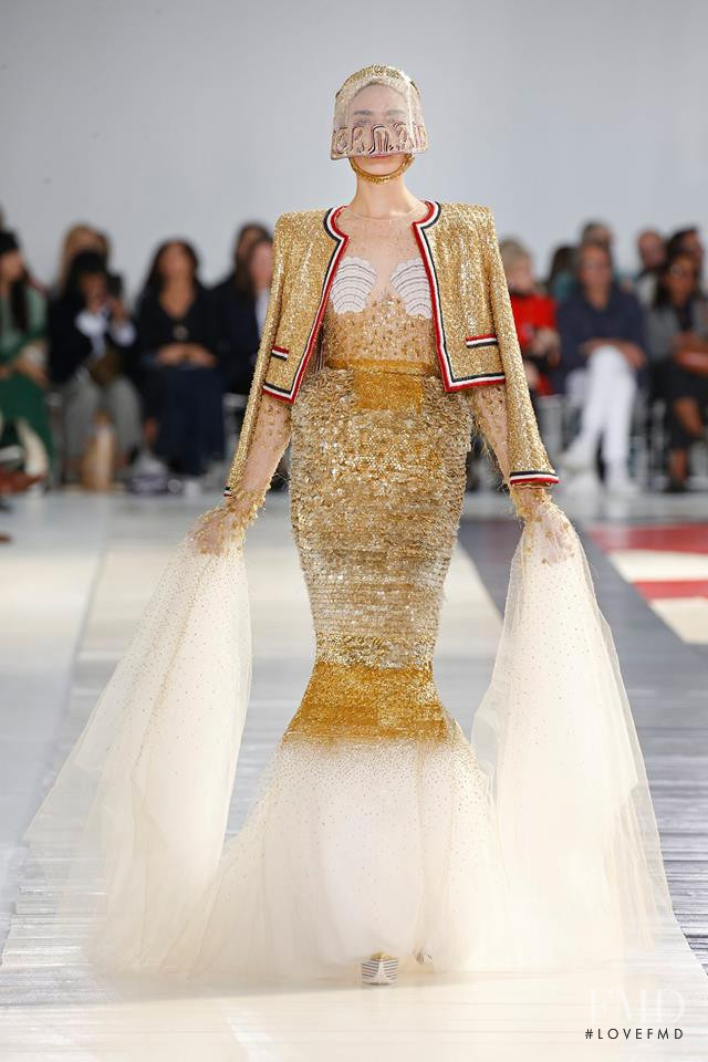 Cristina Piccone featured in  the Thom Browne fashion show for Spring/Summer 2019