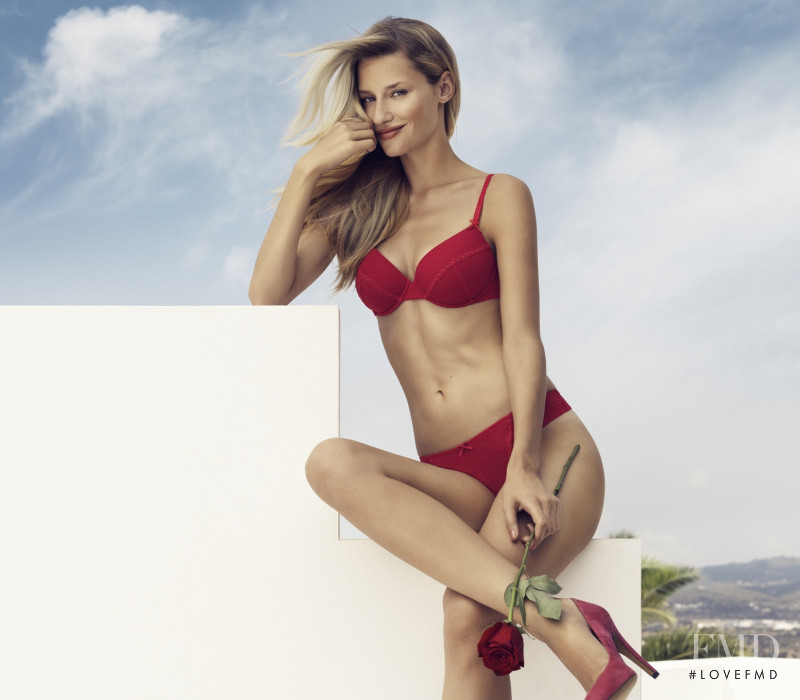 Linda Vojtova featured in  the Palmers advertisement for Spring/Summer 2012