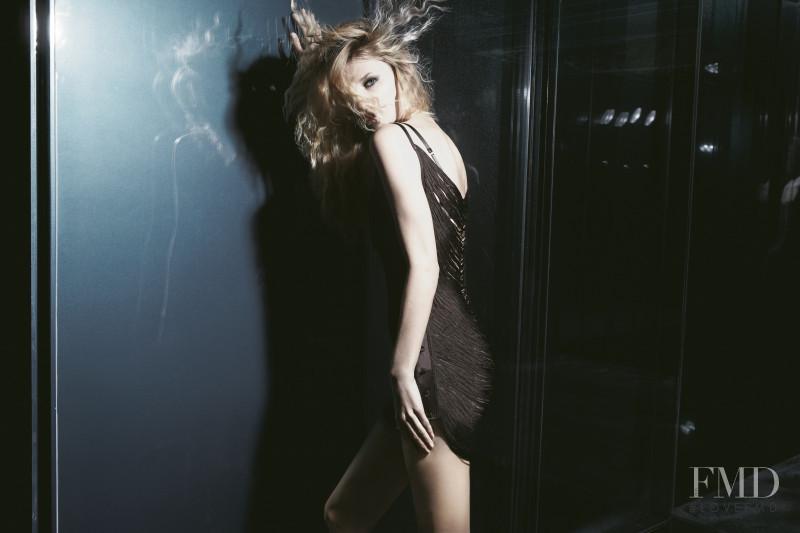 Linda Vojtova featured in  the Andres Sarda advertisement for Autumn/Winter 2010