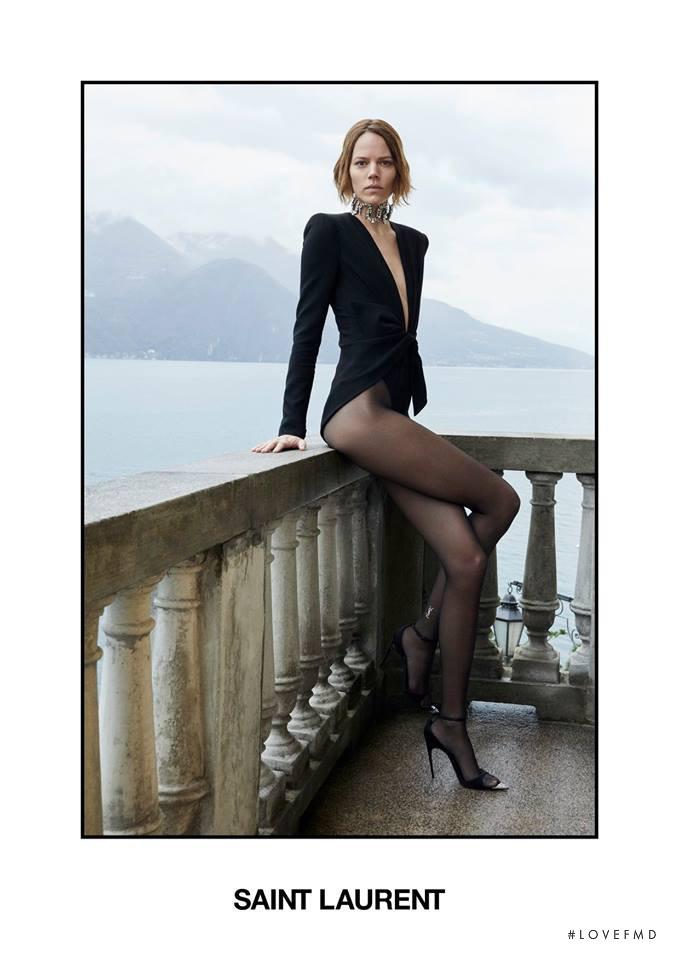 Freja Beha Erichsen featured in  the Saint Laurent advertisement for Spring/Summer 2019