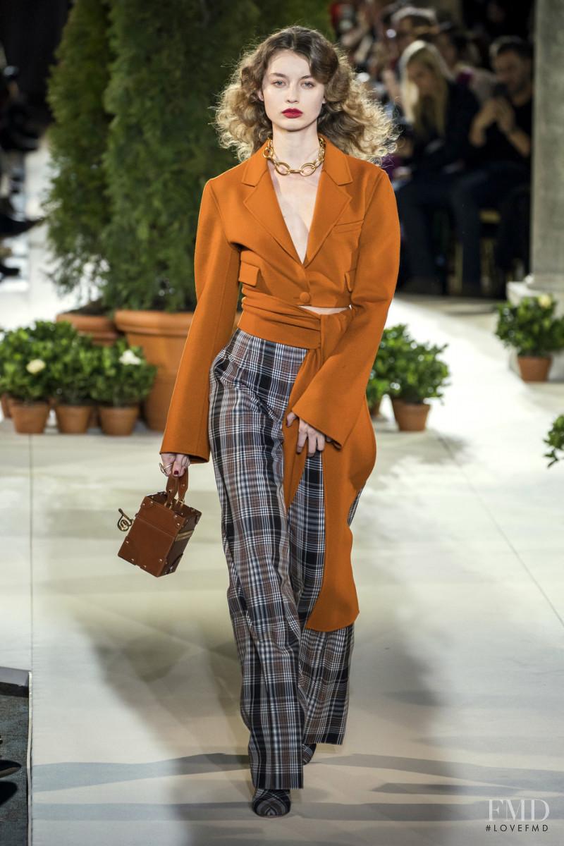 Giulia Maenza featured in  the Oscar de la Renta fashion show for Autumn/Winter 2019