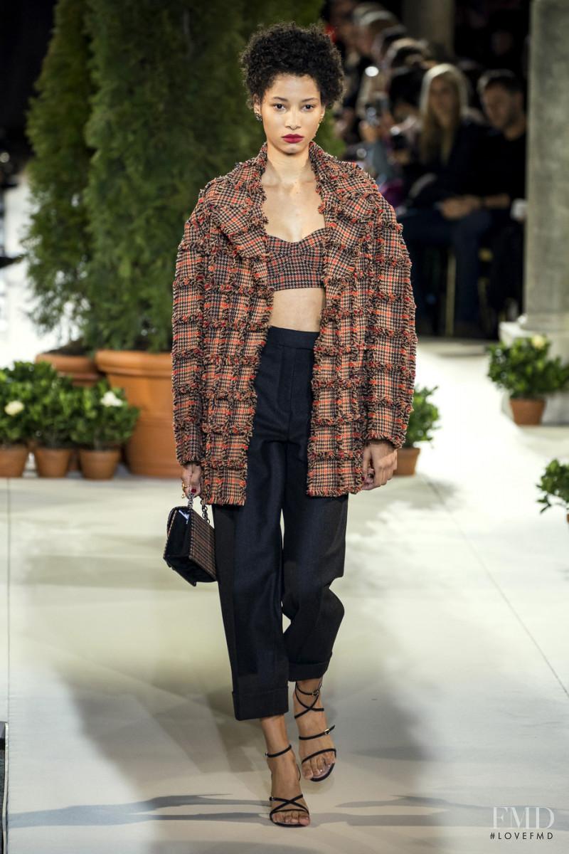 Lineisy Montero featured in  the Oscar de la Renta fashion show for Autumn/Winter 2019